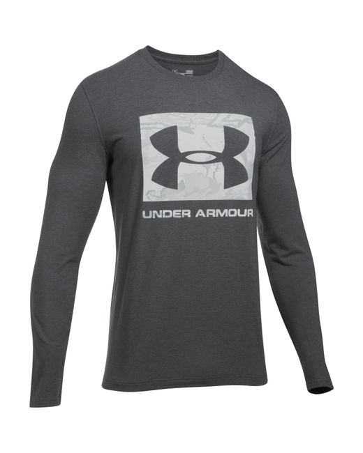 Under Armour - Gray Men's Ua Camo Knockout Long Sleeve T-shirt for Men - Lyst