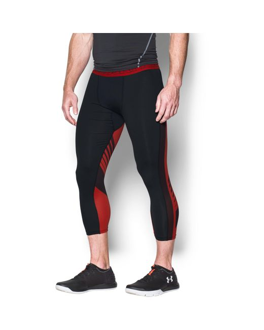 Under Armour | Black Men's Heatgear® Supervent Compression 3⁄4 Leggings for Men | Lyst