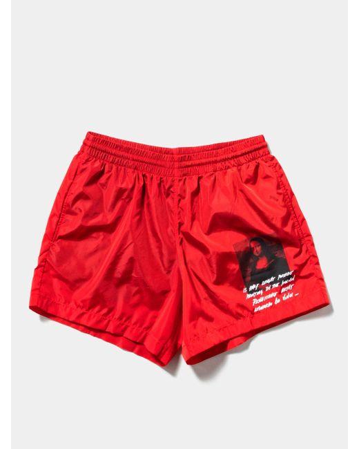 fd51a29ceb Off-White c/o Virgil Abloh Mona Lisa Swim Shorts in Red for Men - Lyst