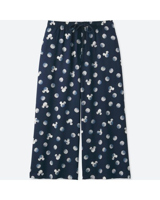 Uniqlo | Women Mickey Blue Relaco 3/4 Shorts (wide) | Lyst