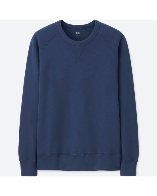 Uniqlo - Blue Men Long Sleeve Sweatshirt for Men - Lyst