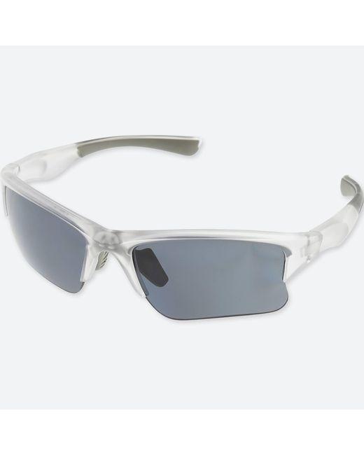 Uniqlo - White Half Rim Sunglasses for Men - Lyst