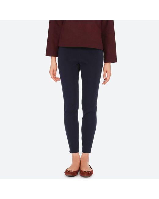 Uniqlo - Blue Women Smart Ankle LEGGINGS Pants - Lyst