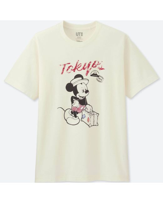 Uniqlo | White Men Mickey Travels Short-sleeve Graphic T-shirt for Men | Lyst