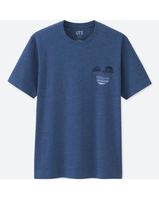Uniqlo | Men Mickey Blue Short Sleeve Graphic T-shirt for Men | Lyst