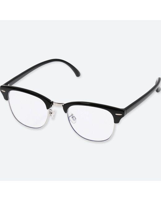 Uniqlo - Black Brow Line Clear Sunglasses for Men - Lyst
