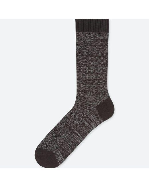 Uniqlo - Black Men Heattech Waffle Socks for Men - Lyst