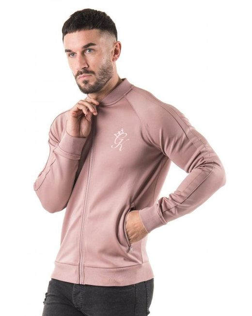 Gym King - Pink Poly Baseball Jacket for Men - Lyst