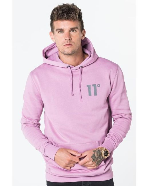11 Degrees   Pink Core Pull Over Hoodie for Men   Lyst
