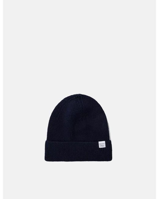 3b098c782b4 Norse Projects - Blue Cotton Watch Beanie Hat for Men - Lyst ...