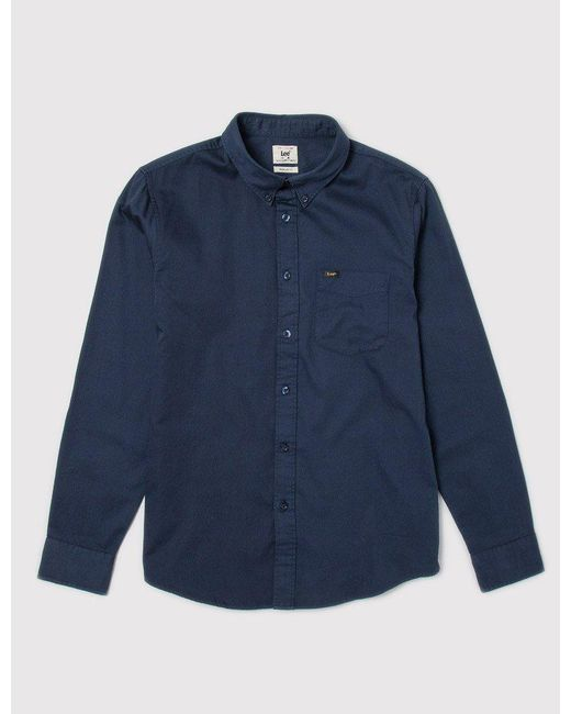 Lee Jeans - Blue Button Down Shirt for Men - Lyst