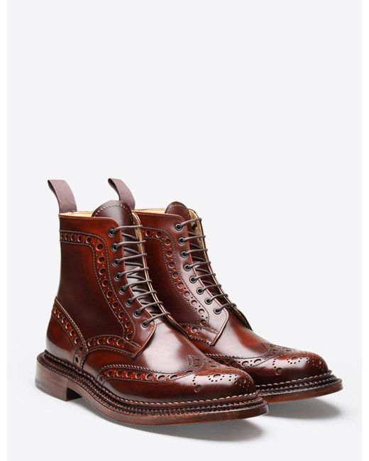 GRENSON - Brown Fred Triple Welt Boot for Men - Lyst