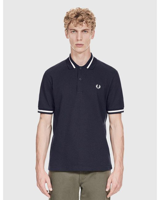 Fred Perry | Blue Single Tipped Polo Shirt for Men | Lyst