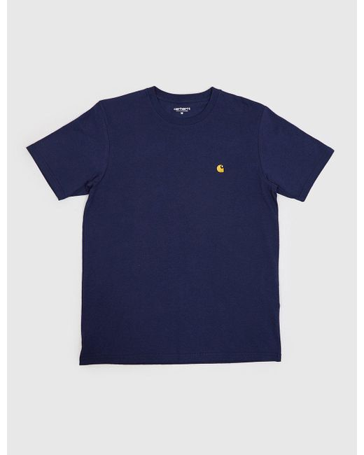 Carhartt - Blue Chase T-shirt for Men - Lyst