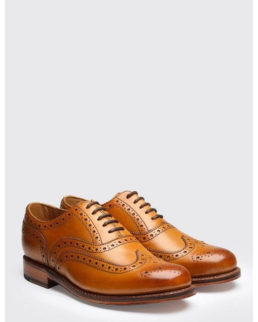 GRENSON - Brown Stanley Calf Brogue Shoes for Men - Lyst
