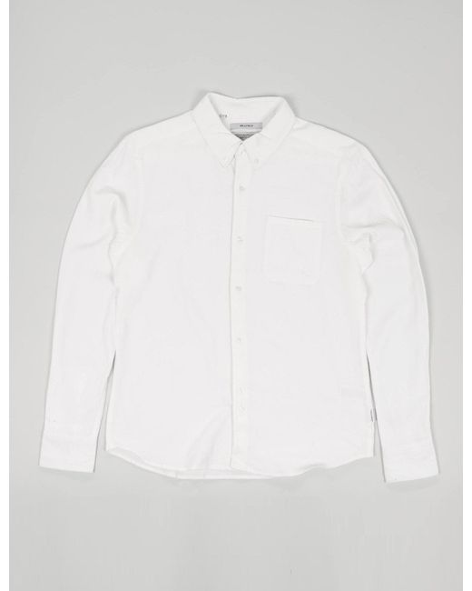 Bellfield - White Connaught Long Sleeve Shirt for Men - Lyst