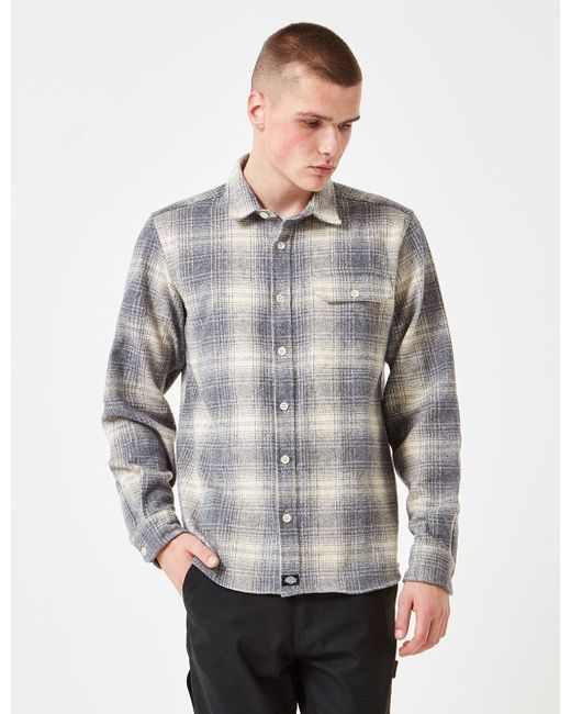 Dickies - Gray Ivyland Checked Shirt for Men - Lyst