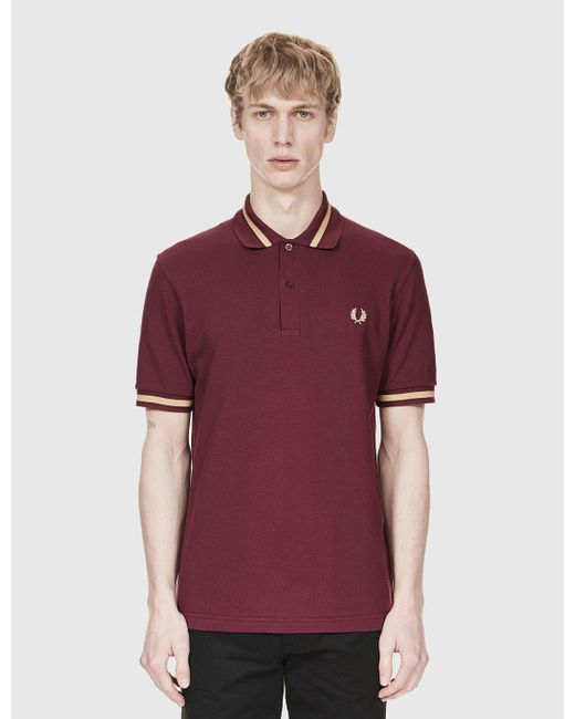 Fred Perry - Purple Single Tipped Polo Shirt for Men - Lyst