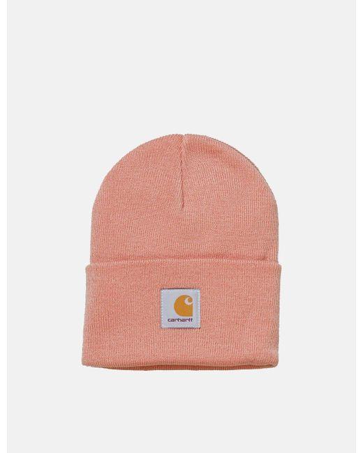 Carhartt - Pink Watch Cap Beanie Hat for Men - Lyst ... d2006c169d48