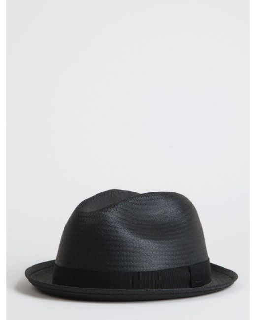 Bailey of Hollywood Black Bailey Wicket Straw Triby Hat for men