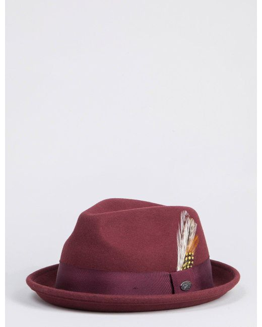 Bailey of Hollywood Multicolor Bailey Cloyd Trilby Hat for men