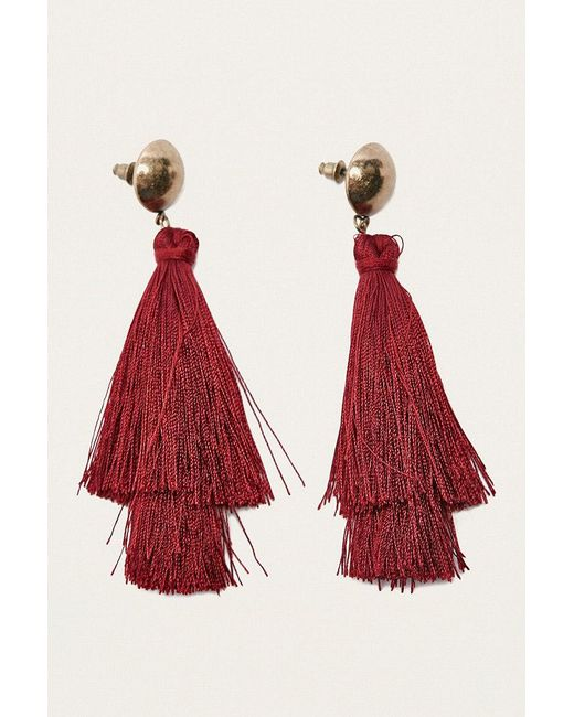 Urban Outfitters | Layered Tassel Drop Earrings | Lyst