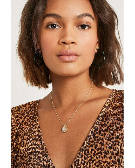 Urban Outfitters - Metallic Premium Shell Charm Necklace - Womens All - Lyst