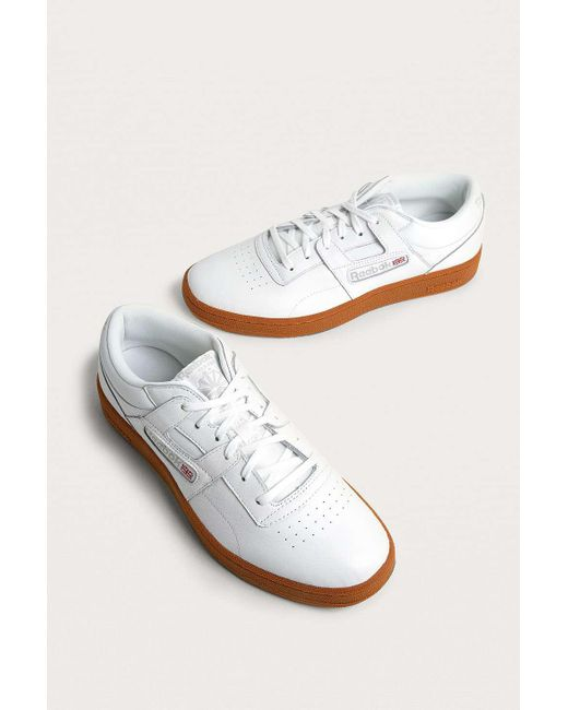 2b23fe08f5c ... Reebok - Workout Club White And Skull Grey Trainers - Mens Uk 10 for Men  ...