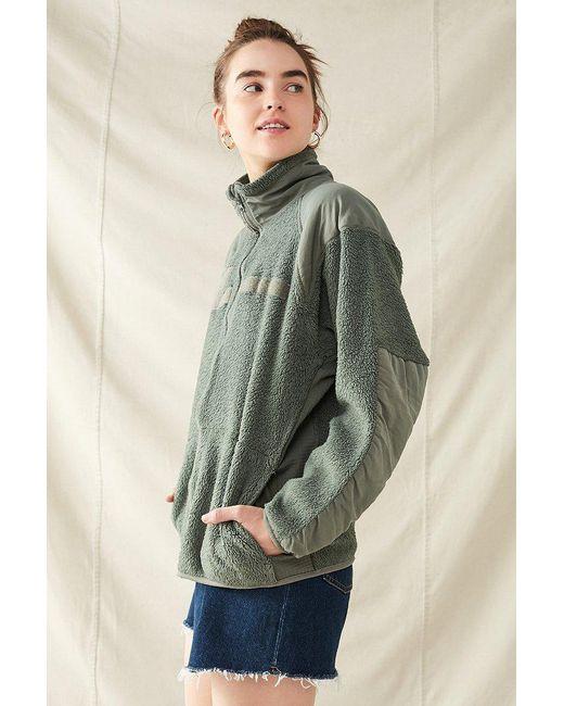 Urban outfitters Vintage Surplus Cozy Fleece Jacket in Green | Lyst