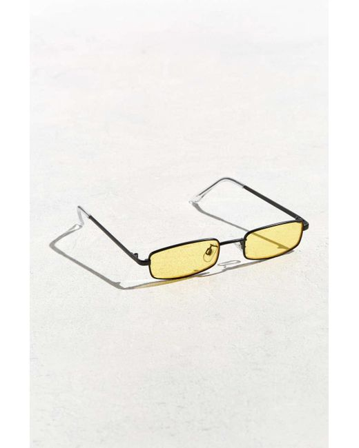 9cdd888334 Urban Outfitters - Black Metal Rectangle Sunglasses for Men - Lyst ...