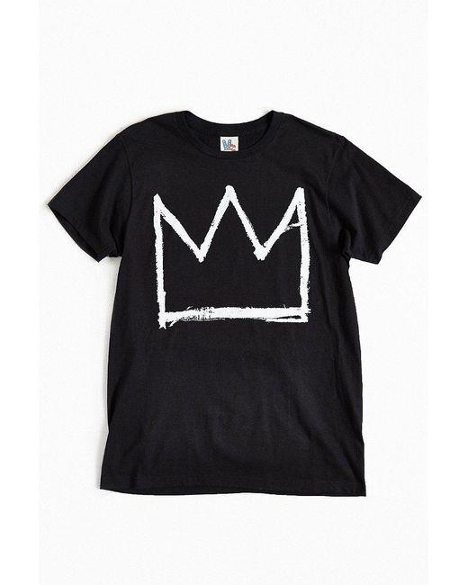 Junk Food | Black Basquiat Crown Tee for Men | Lyst