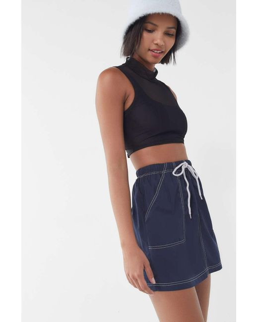 Urban Outfitters - Blue Uo Nylon Drawstring Utility Mini Skirt - Lyst