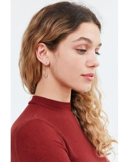 Urban Outfitters   Metallic Sterling Silver + 18k Gold Plated Daryl Hoop Earring   Lyst