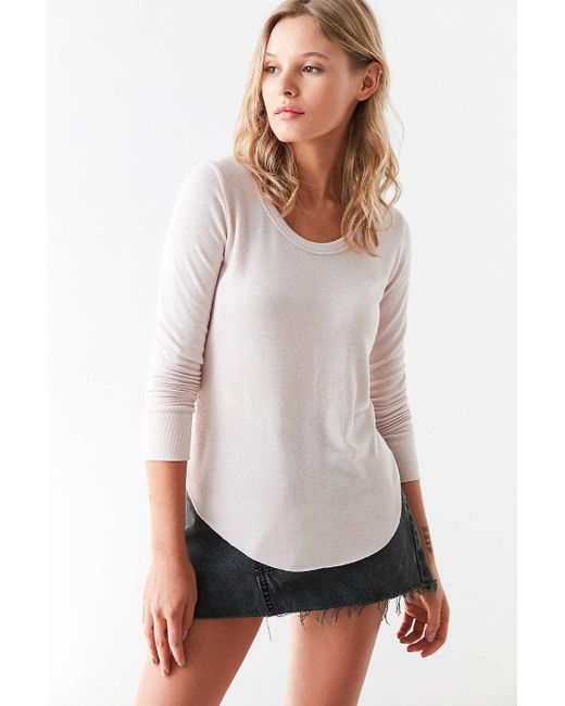 Truly Madly Deeply | Blue Camden Long-sleeve Shirttail Tee | Lyst