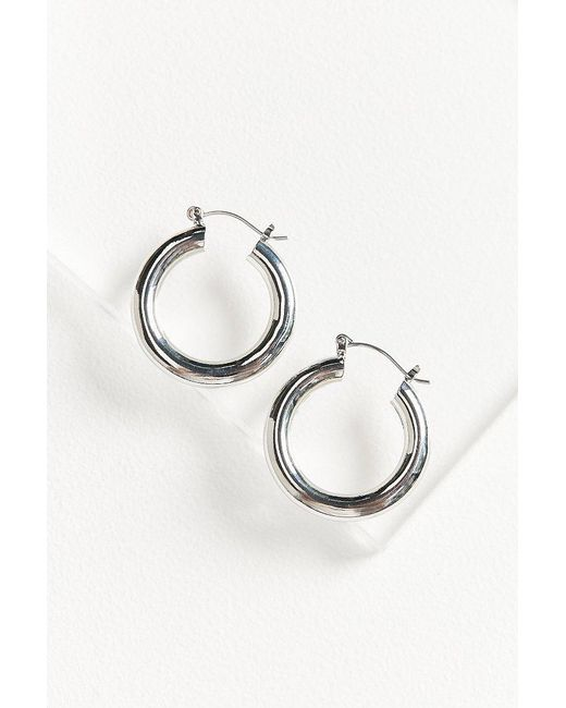 Urban Outfitters | Metallic Hollow Hoop Earring | Lyst