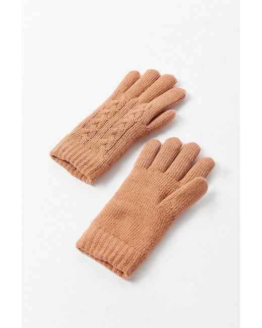 Urban Outfitters | Multicolor Cable Knit Chenille-lined Glove | Lyst