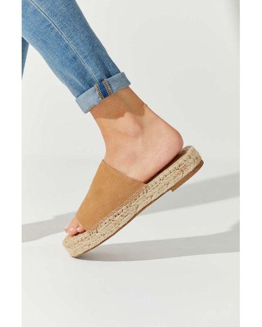 163d43b7e8e4 Urban Outfitters - Natural Mimi Espadrille Slide Sandal - Lyst ...