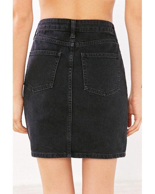 bdg denim pencil mini skirt in black lyst