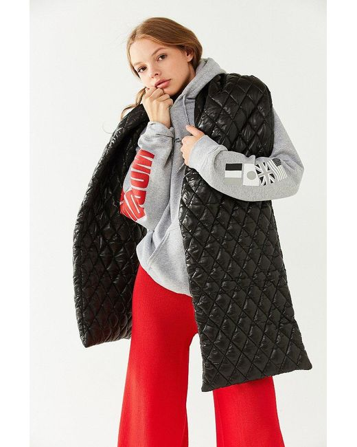 Urban Outfitters | Black Puffer Blanket Scarf | Lyst