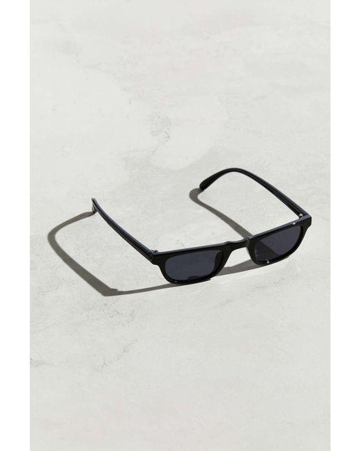 d044175077 Urban Outfitters - Black Mini Rectangle Sunglasses for Men - Lyst ...