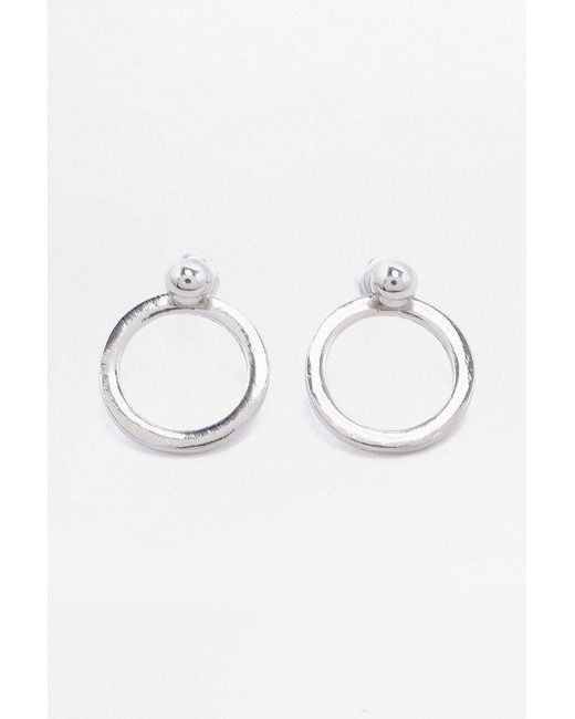 Urban Outfitters   Metallic Circle Front Back Hoop Earrings   Lyst