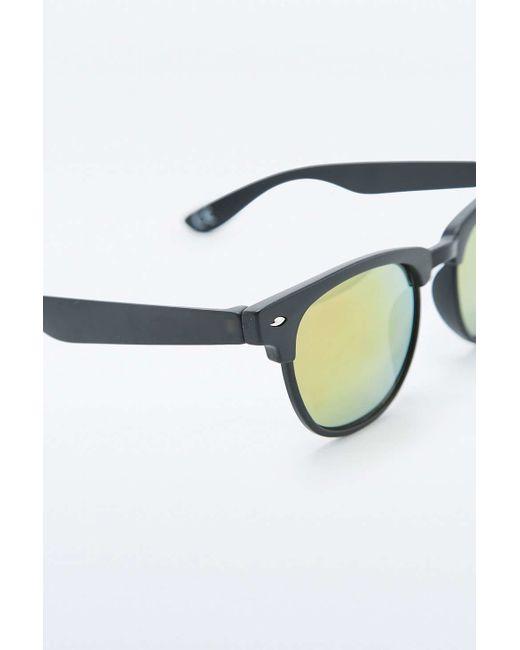 Glasses Frames Urban Outfitters : Urban outfitters Matte Black Half-frame Revo Lens ...