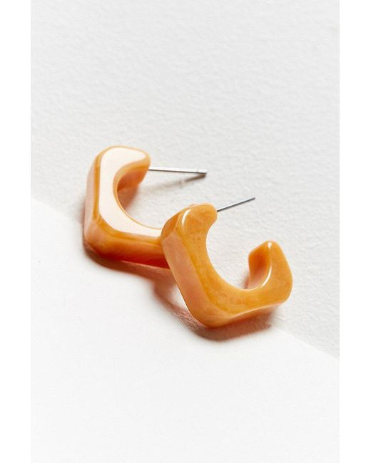 Urban Outfitters - Multicolor Zoie Resin Square Huggie Hoop Earring - Lyst