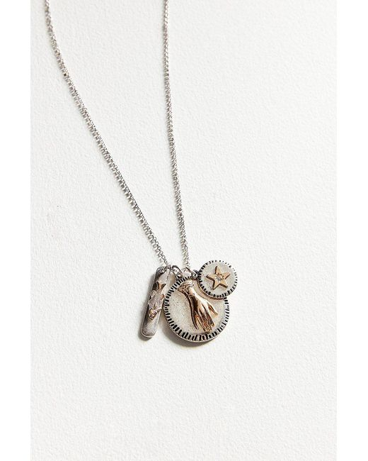 Urban Outfitters | Metallic Cluster Pendant Necklace | Lyst