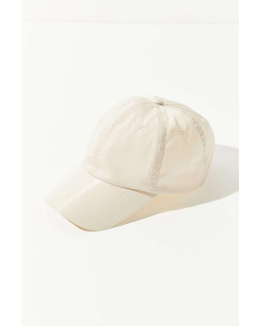 f04af4f7ae ... Urban Outfitters - White Uo Nylon Baseball Hat - Lyst ...