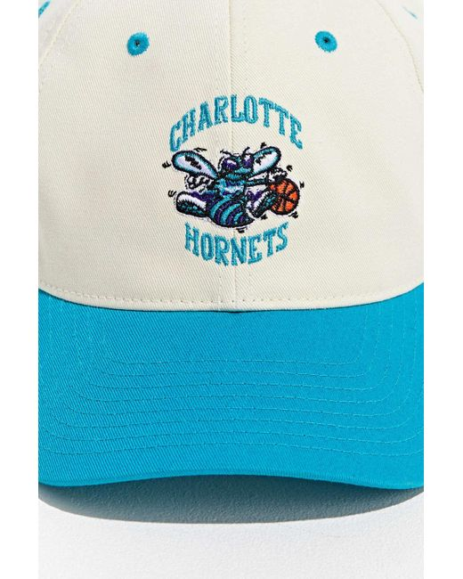 4edda2c30c1e9d ... Mitchell & Ness - Blue Uo Exclusive Charlotte Hornets Two-tone Baseball Hat  for Men ...