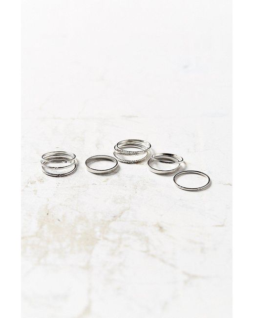 Urban Outfitters   Metallic Simple Ring Pack   Lyst