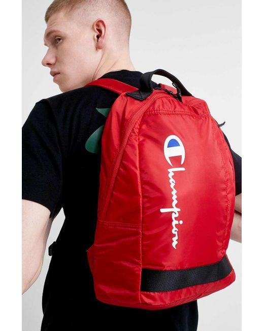 Champion - Red Rucksack for Men - Lyst