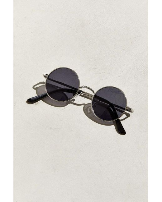 21a2cfed09 ... Lyst Urban Outfitters - Metallic  70s Round Sunglasses for Men ...