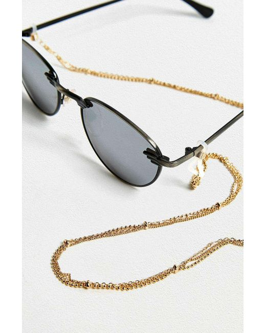 1b07e5a7a1f ... Urban Outfitters - Metallic Three-chain Sunglasses Chain - Womens All -  Lyst ...